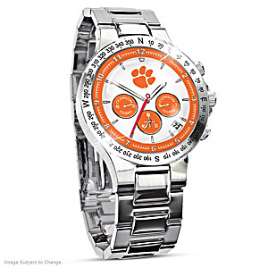 Clemson Tigers Commemorative Stainless Steel Watch