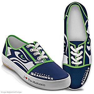 NFL-Licensed Seattle Seahawks Women's Canvas Sneakers