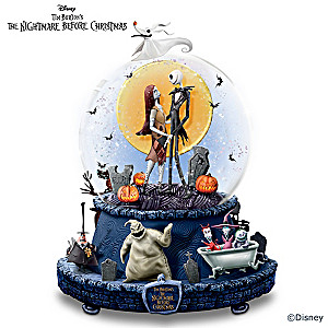Nightmare Before Christmas Rotating Musical Glitter Globe