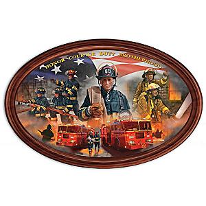 "Glen Green ""Courage Under Fire"" Firefighter Collector Plate"