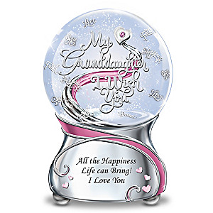My Granddaughter, I Wish You Musical Glitter Globe