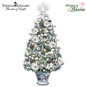 "Thomas Kinkade ""Winter Splendor"" Illuminated Tabletop Tree"