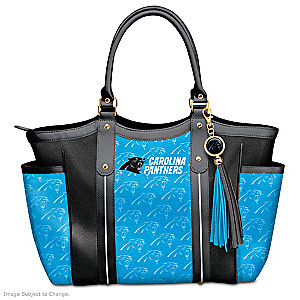 """Touchdown Panthers!"" Designer Style Shoulder Tote"
