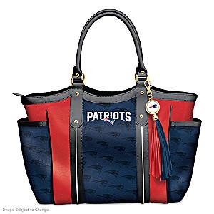 """Touchdown Patriots!"" Designer Style Shoulder Tote"