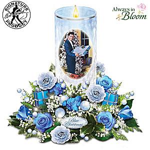 "Elvis ""Blue Christmas"" Illuminated Musical Flameless Candle"