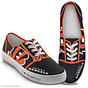 NFL-Licensed Cincinnati Bengals Women's Canvas Sneakers