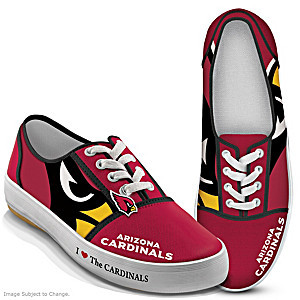 NFL-Licensed Arizona Cardinals Women's Canvas Sneakers
