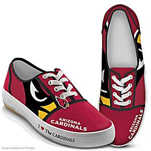 NFL-Licensed Arizona Cardinals Women's Canvas Sneakers