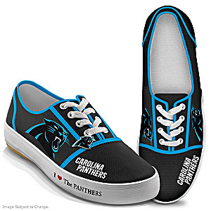 NFL-Licensed Carolina Panthers Women's Canvas Sneakers
