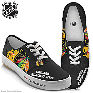 NHL®-Licensed Chicago Blackhawks® Art Sneakers