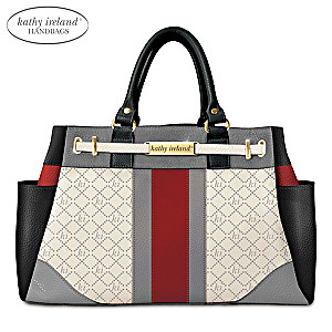 kathy ireland Signature Beauty Handbag With Engraved Plaque