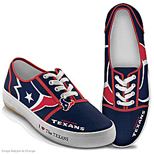 NFL-Licensed Houston Texans Women's Canvas Sneakers