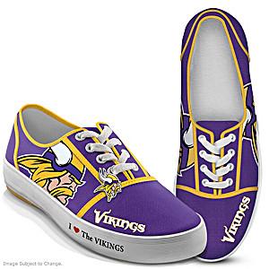 NFL-Licensed Minnesota Vikings Women's Canvas Sneakers