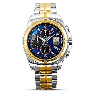 U.S. Army Commemorative Engraved Men's Chronograph Watch