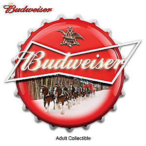 Budweiser Clydesdales Bottle Cap Illuminated Marquee Sign