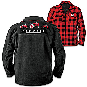 Farmall Reversible Fleece And Cotton Flannel Men's Jacket