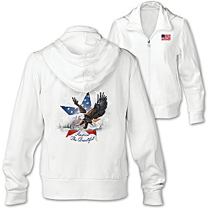 """America The Beautiful"" Women's Hoodie With Larry Martin Art"