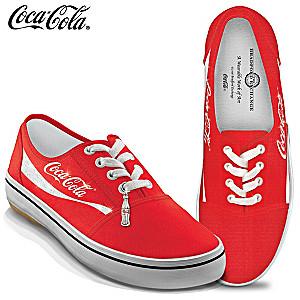 COCA-COLA Women's Canvas Shoes With Coke Bottle Charm