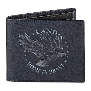"""""""Land Of The Free"""" RFID Blocking Leather Wallet"""