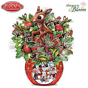 Rudolph The Red-Nosed Reindeer Illuminated Table Centerpiece