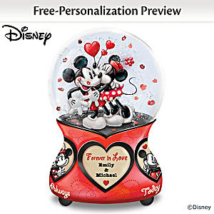 "Disney ""Forever In Love"" Personalized Musical Glitter Globe"