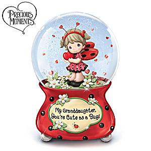 Precious Moments, Granddaughter Cute As A Bug Musical Glitter Globe