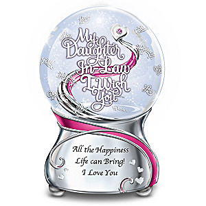 """My Daughter-In-Law, I Wish You"" Musical Glitter Globe"