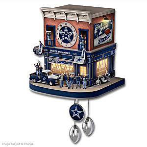 Cowboys Fan Tribute Wall Clock With Lights, Sound, Motion