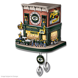 Packers Fan Tribute Wall Clock With Lights, Sound, Motion