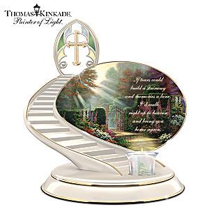 """Thomas Kinkade """"Loving Remembrance"""" Porcelain Candle Holder"""
