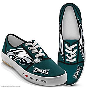 NFL-Licensed Philadelphia Eagles Women's Canvas Sneakers