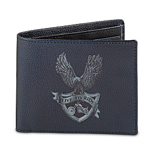 """Live To Ride"" RFID Blocking Leather Wallet"