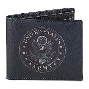 U.S. Army RFID Blocking Leather Wallet