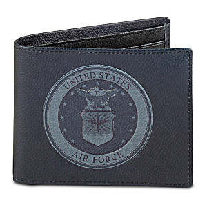 U.S. Air Force RFID Blocking Leather Wallet