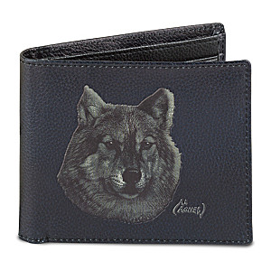 "Al Agnew ""Lone Wolf"" Men's RFID-Blocking Leather Wallet"