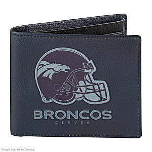 Denver Broncos RFID Blocking Leather Wallet