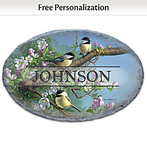 """Songbird Serenade"" Welcome Sign Personalized With Name"