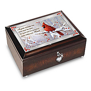 "Beth Hoselton ""Messenger From Heaven"" Cardinal Art Music Box"