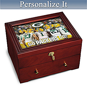 Green Bay Packers Personalized Wooden Keepsake Box