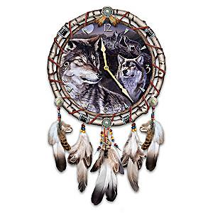 "Al Agnew ""Mystic Call"" Leather Dreamcatcher Wall Clock"