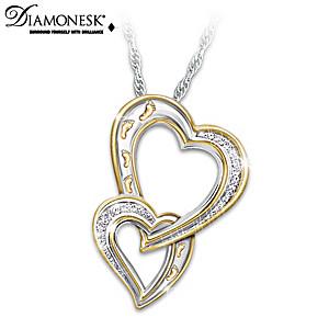You'll Never Walk Alone Daughter Diamonesk Pendant Necklace