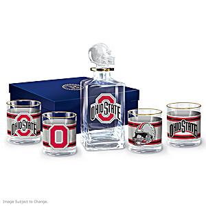 Ohio State Buckeyes Five-Piece Glassware Set