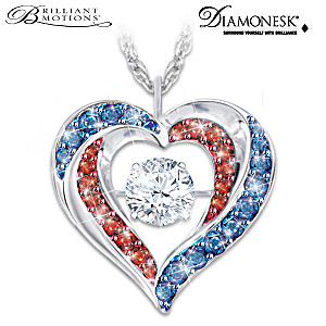 "Brilliant Motions ""America The Beautiful"" Diamonesk Necklace"