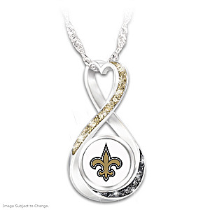 """New Orleans Saints Forever"" Infinity Pendant Necklace"