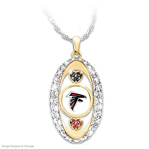 """For The Love Of The Game"" Atlanta Falcons Pendant"