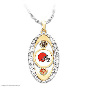 """For The Love Of The Game"" Cleveland Browns Pendant"