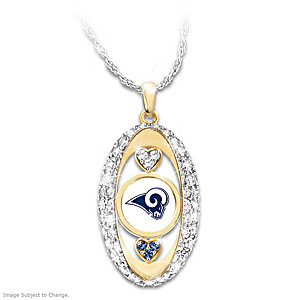 """For The Love Of The Game"" Los Angeles Rams Pendant"