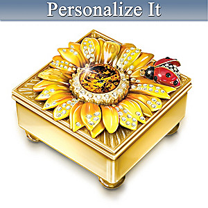 """Daughter Mini Treasures"" Personalized Jeweled Music Box"