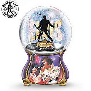 "Elvis Presley ""Burning Love"" Musical Glitter Globe"