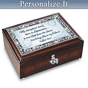 Birthstone Music Box With Daughter's Name In Sentiment